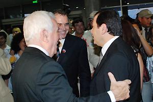 Gerardo Zamora, Jorge González y Gustavo Ick