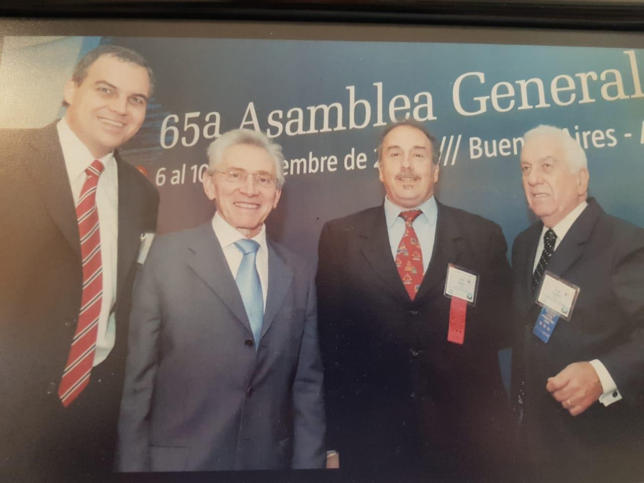 Gustavo Ick, Marcos Aguinis, Julio Blanck y Jorge Gonzalez